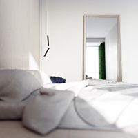 mieszkanie dla dwojga, wizualizacja sypialni