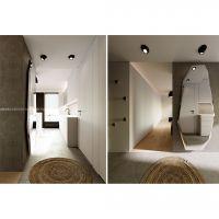 mieszkanie dla dwojga, wizualizacja korytarza