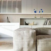 mieszkanie dla dwojga, wizualizacja kuchni