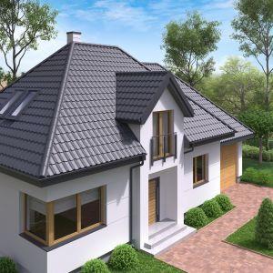 Nowoczesne pokrycia dachowe: blachodachówka dwumodułowa. Fot. Regamet