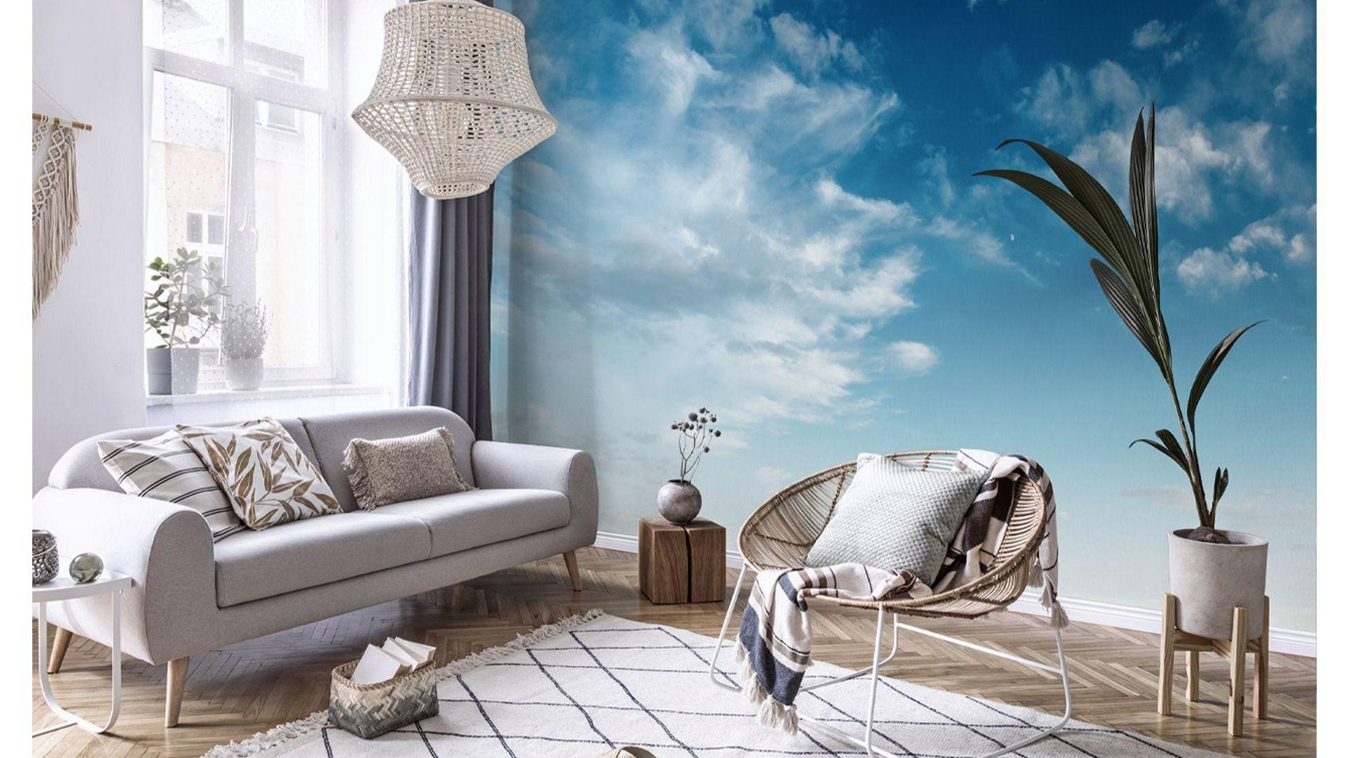 Fototapeta chmury w salonie. Fot. Redro
