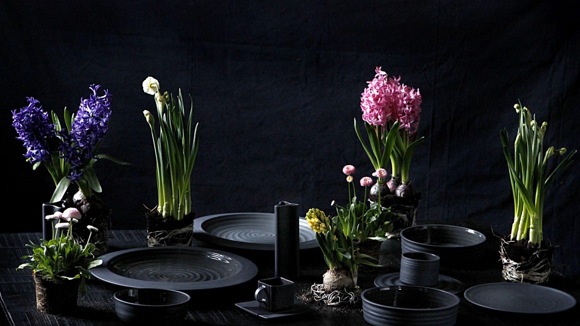 Czarna porcelana. Kolekcja Toczony. Fot. Ćmielów Design Studio