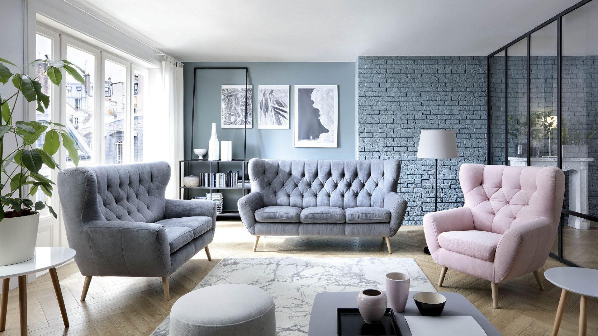 Aranżacja salonu: modne kolorowe kanapy marki Gala Collezione. Fot. Gala Collezione
