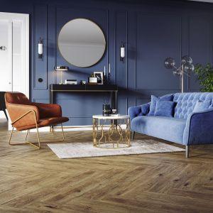 Organic Wood to kolekcja płyt gresowych inspirowanych drewnem; na zdj. wzór Somerwood brown. Fot. Cersanit