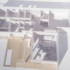 Widok z góry na rozkład pomieszczeń. Fot. Studio BB Architekci