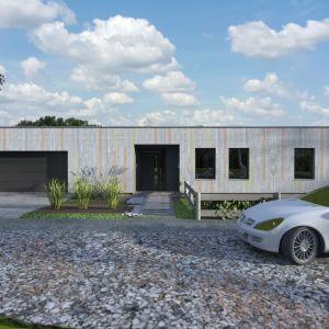 W domu zaprojektowano garaż na dwa samochody. Fot. Studio BB Architekci