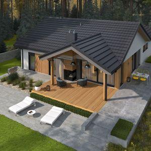 Mały dom parterowy Simon IV G2. Projekt: arch. Artur Wójciak. Fot. Pracownia Projektowa Archipelag
