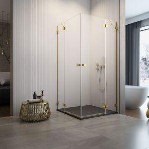 Personalizacja strefy prysznica. Kabina Essenza Pro Gold KDD medium. Fot. Radaway