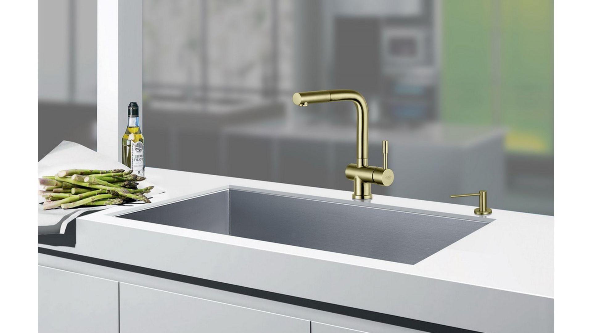 Corsa Inox Złoto Szampańskie/Blue Water. Produkt zgłoszony do konkursu Kuchnia - Wybór Roku 2020