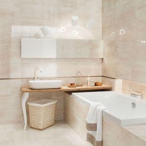 Płytki do łazienki. Kolekcja Shine Concrete. Fot. Tubądzin