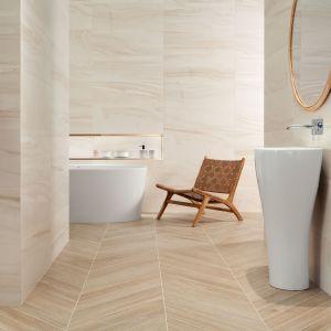Płytki do łazienki. Kolekcja Sheen zaprojektowana przez Macieja Zienia. Fot. Tubądzin