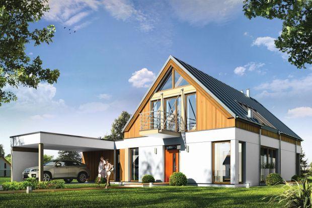 Domino to wyjątkowy dom jednorodzinny, o ciekawej, nietuzinkowej architekturze. Głównym założeniem projektu było uzyskanie prostej bryły przykrytej dwuspadowym dachem z minimalnymi okapami i zaplanowanie wnętrz domu na osi wzdłuż kalenicy – od