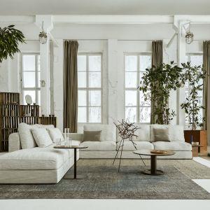 Meble do salonu - nowa kolekcja Nobonobo:  sofa Raksa, stolik Nato, stolik Oo. Fot. Nobonobo