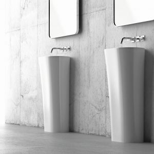 Umywalka stojąca Wega dostępna w ofercie Marmorin Design / fot. Marmorin Design