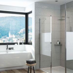 Kabina prysznicowa walk-in P/PRIII Prestige dostępna w ofercie firmy Sanplast. Fot Sanplast