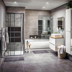 IMANDRA – funkcjonalne meble łazienkowe o modułowym charakterze, które sprawdzą się w różnych stylizacjach. Dostępne w ofercie marki GoodHome. Fot. Castorama