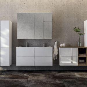 TORINO – meble modułowe o minimalistycznej formie oferowane w dwóch atrakcyjnych kolorach do wyboru - białym błyszczącym lakierze oraz dekorze buku truflowego. Dostępne w ofercie firmy Ø NAS. Fot. Ø NAS
