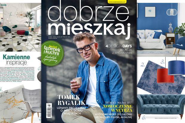 Gwiazdą najnowszego wydania Dobrze Mieszkaj jest Tomek Rygalik. Uznany polski designer opowiedział nam o swojej pracy, inspiracjach, procesie twórczym oraz o tym jak mieszka i co lubi we wnętrzach. Przygotowaliśmy dla Was także moc trendów, liczn
