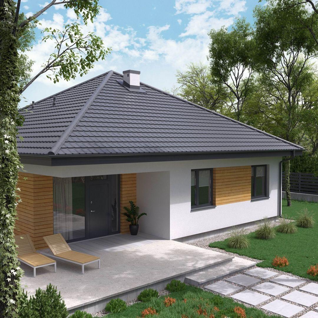 Nowoczesny dach: blachodachówka dwumodułowa Liwia Pro marki Regamet. Fot. Regamet