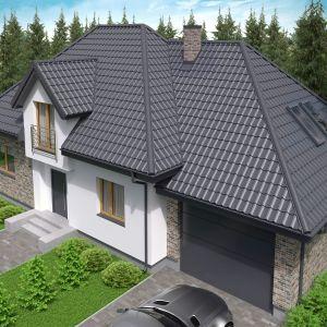 Nowoczesny dach: blachodachówka dwumodułowa Mona Classic marki Regamet. Fot. Regamet