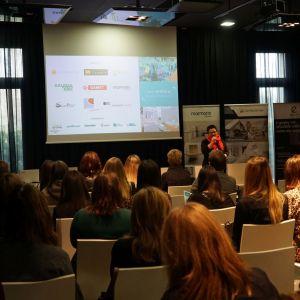 Spotkanie prowadziła Justyna Łotowska, szef redakcji wnętrzarskich Publikatora. Studio Dobrych Rozwiązań, Toruń, 10 marca 2020