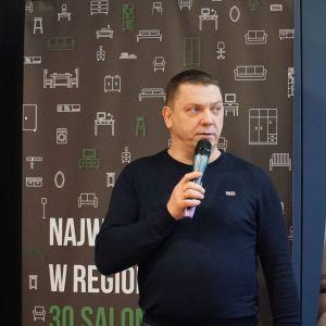 Markę Marmorin Design reprezentował Rafał Przygocki. Studio Dobrych Rozwiązań, Toruń, 10 marca 2020