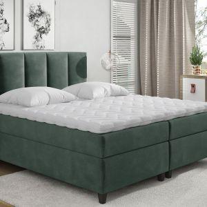 Łóżko kontynentalne Arizona w zielonym kolorze dostępne w ofercie marki Comforteo. Fot. Comforteo