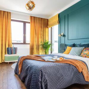 Oświetlenie w sypialni. Projekt: Joanna Rej. Fot. Pion Poziom