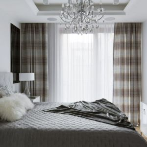 Oświetlenie w sypialni. Projekt: Małgorzata Górska Niwińska. Fot. Yassen Hristov Hompics