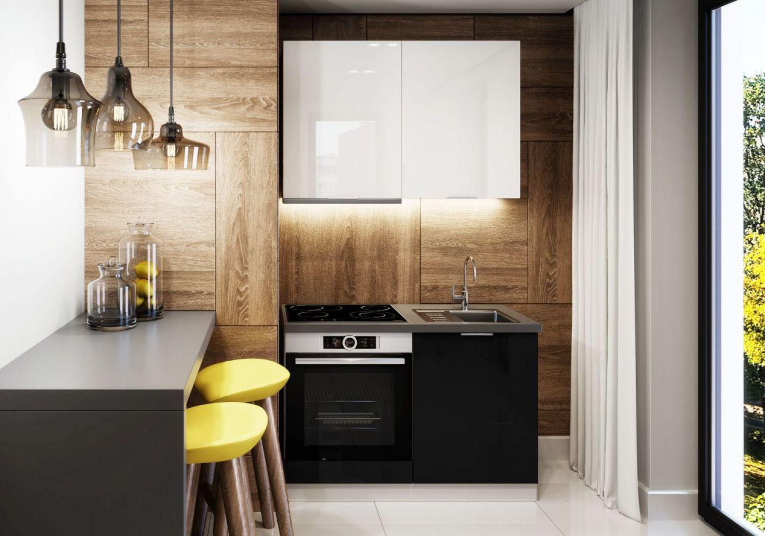 Kuchnia Akrylic to ponadczasowe połączenie czerni i bieli.