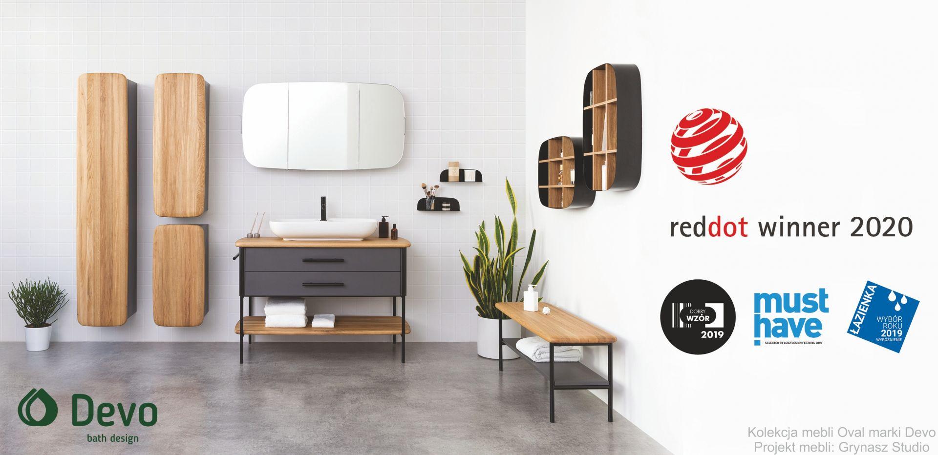 Red Dot 2020 dla polskiej kolekcji Oval marki Devo.