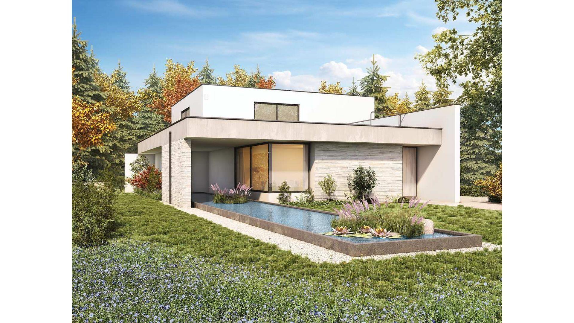 W ostatnich latach coraz większą popularnością cieszą się domy o minimalistycznej bryle. Inwestorzy pokochali je przede wszystkim ze względu na prostotę formy, a architekci za obecną w tym nurcie geometryczność. Fot. Galeco