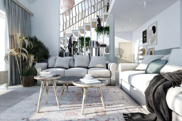 Projekt wnętrz domu w okolicach Łodzi jest mieszanką stylu boho z elementami nowoczesnej klasyki.Całość została ubrana w bardzo przemyślane detale, nietuzinkowe i charakterystyczne dodatki oraz w pastelowe kolory.<br /><br />