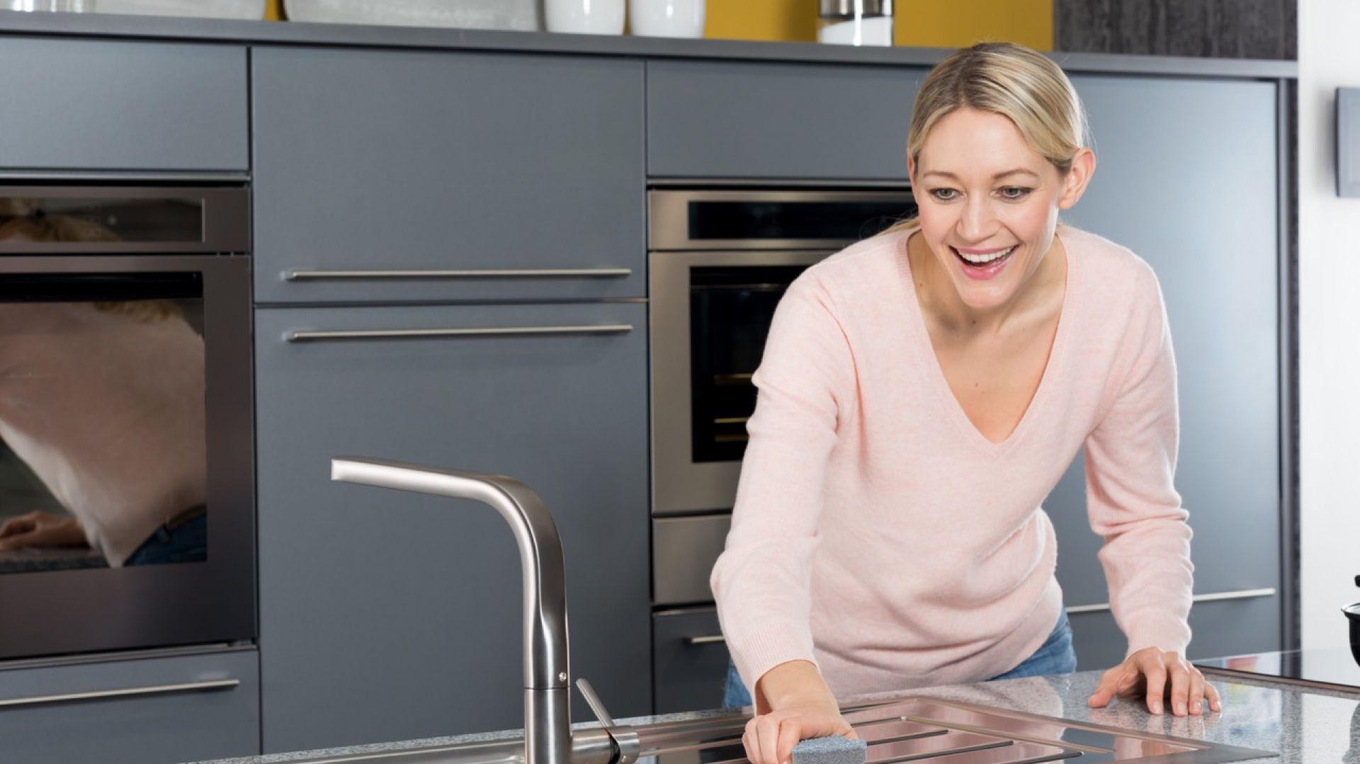 Wiosenne porządki w kuchni. Zmywak Inox Clean & Protect marki Vileda. Fot. Vileda