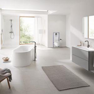 Kolekcja Essence to nie tylko minimalistyczne wzornictwo, ale również technologia sprawiająca, że łazienka zawsze będzie lśniąca. Fot. Grohe