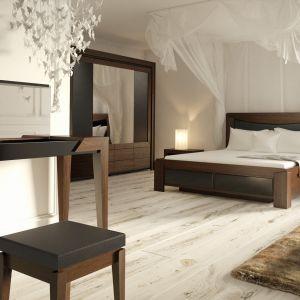 Łóżko z pięknym zagłówkiem z kolekcji Sempre. Fot. Mebin