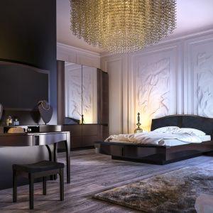 Łóżko z pięknym zagłówkiem z kolekcji Diunaa. Fot. Mebin