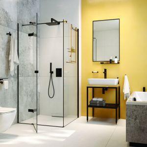 Czarne kabiny prysznicowe. To jest na topie! Fot. Deante