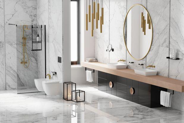 Czerń od kliku sezonów nie wychodzi z mody. W strefie prysznica dodaje łazience ponadczasowości, ale też aranżacyjnego pazura.
