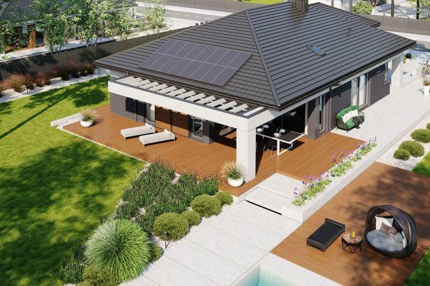10 świetnych projektów domów: parterowe, z dużymi tarasami!