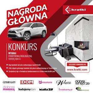 Trwa konkurs Kratek na najpiękniejsze wnętrza  z kominkiem w roli głównej! Do wygrania Toyota Rav4 Hybrid
