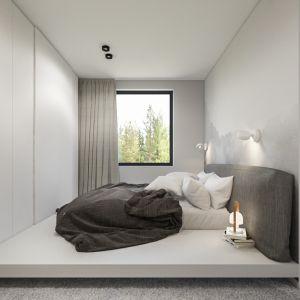 Minimalistyczne wnętrze: sypialnia. Projekt i wizualizacje: Agnieszka Marciniak