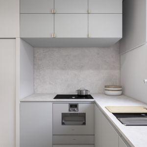Minimalistyczne wnętrze: kuchnia. Projekt i wizualizacje: Agnieszka Marciniak