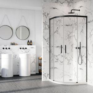 10 pomysłów na marmur w kuchni i łazience. Fot. Radaway
