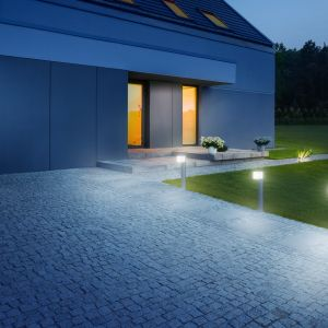 Inteligentne oświetlenie wokół domu: lamy Moodbild+GL+80+Cubo. Fot. Steinel Lange Łukaszuk