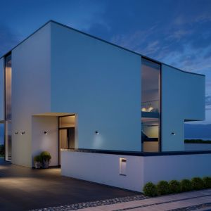 Inteligentne oświetlenie wokół domu: lamy Spot+One. Fot. Steinel Lange Łukaszuk