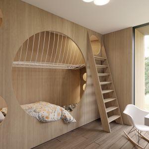 Wnętrza domu Circle Wood pod Warszawą. Projekt: Przemek Olczyk / Mobius Architekci