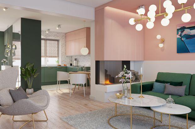 Inspiracją do powstania tego pięknego, przytulnego wnętrza były obrazy poznańskiej artystki Katarzyny Malinowskiej. Wielobarwność mieszkania jest odzwierciedleniem charakteru malarstwa artystki.