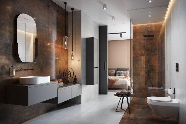 Ciemne kolory zdominowały wnętrza. Zobacz jak efektownie prezentują się w łazienkach.