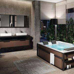 Ciemne kolory w łazience. To jest trendy! Fot. Novellini